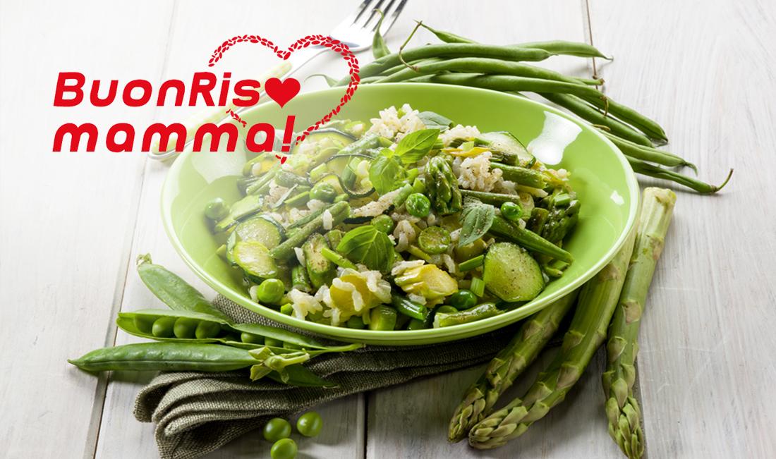 Risotto asparagi, piselli e zucchine